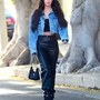 EXCLUSIVE: Megan Fox Spotted Leaving The Hair Salon In Edgy Prada Combat Boots And Leather Pants