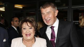 Herečka Jiřina Bohdalová a premiér Andrej Babiš