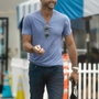 *EXCLUSIVE* David Charvet talks with a friend without wearing a mask in Malibu