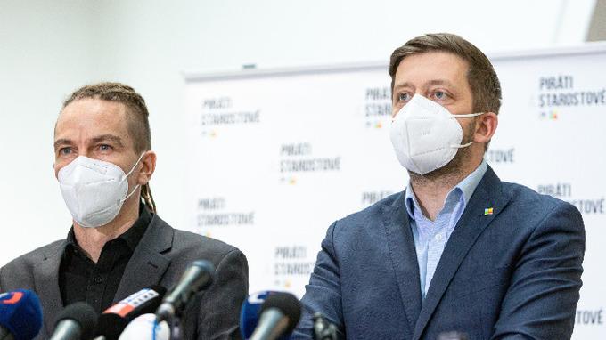 Koaliční partneři Ivan Bartoš a Vít Rakušan