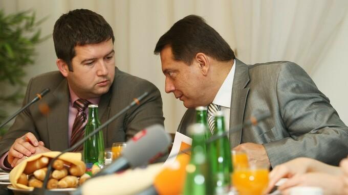 Jan Hamáček a Jiří Paroubek