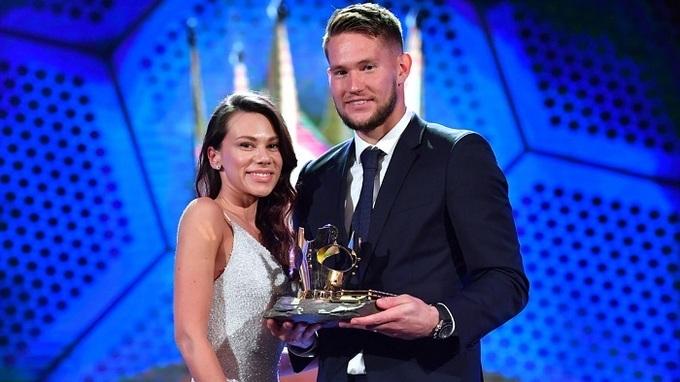 Tomáš Vaclík a jeho manželka Martina