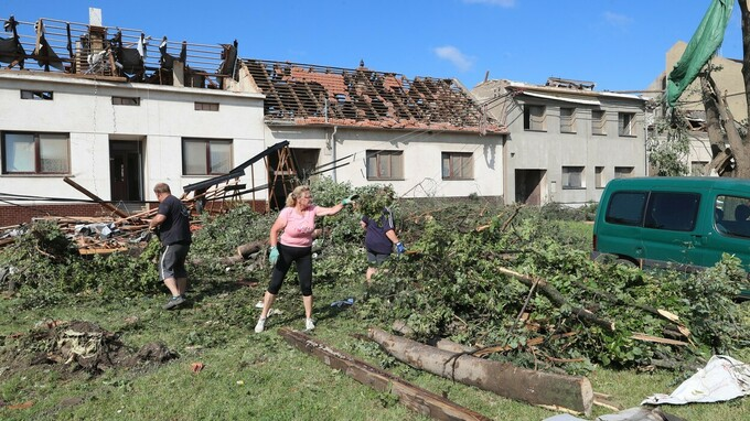 Tornádo zasáhlo jižní Moravu