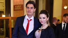 Patrik Schick s manželkou Hanou