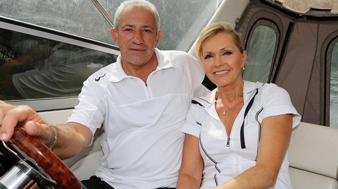 Helena Vondráčková a Martina Michal na Slapech.