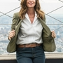 Cindy Crawford lights the Empire State Building.