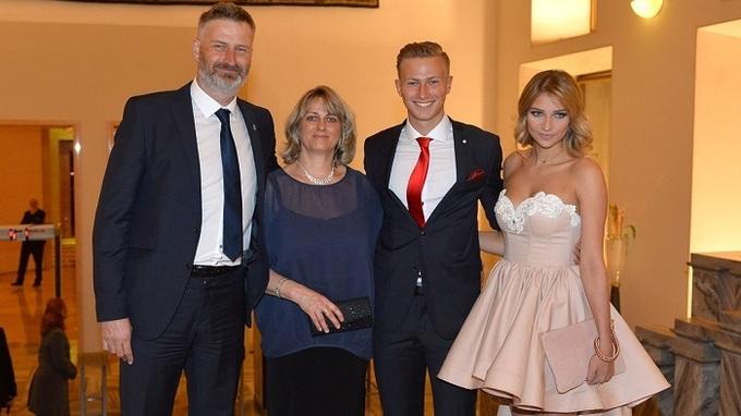 Antonín Barák s rodinou