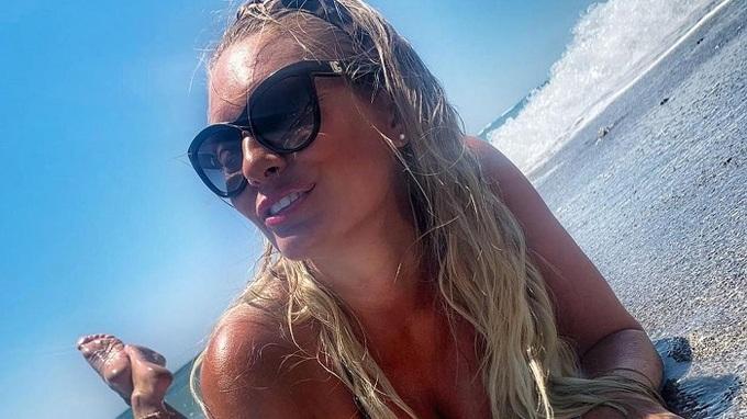 Lucie Borhyová si dovolenou užila