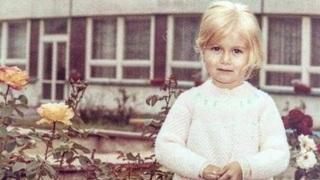 Klára Long Slámová jako malá holčička.