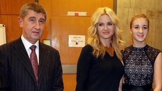 Premiér Andrej Babiš s manželkou a dcerou