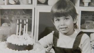 Eva Decastelo jako malá holčička.