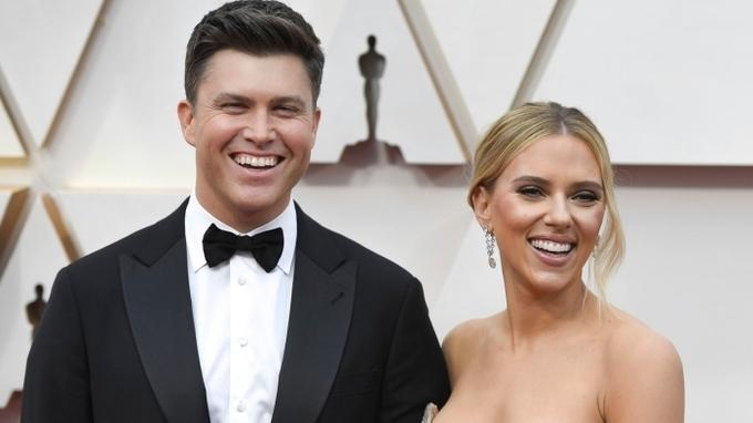 Scarlett Johanssonová s manželem Colinem Jostem