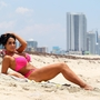 **EXCLUSIVE** Bikini clad Nadya 'Octomom' Suleman splashes around in the surf and relaxes in the sand in West Palm Beach, Florida