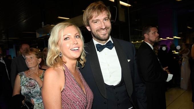 Ministr Adam Vojtěch s manželkou Olgou v Karlových Varech