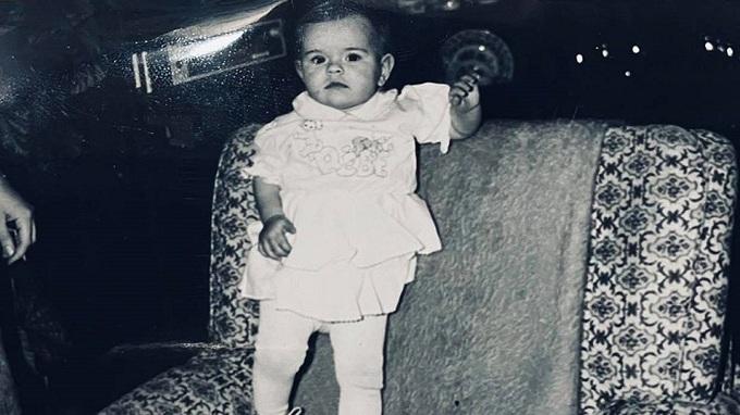 Štěpánka Hadenová jako miminko