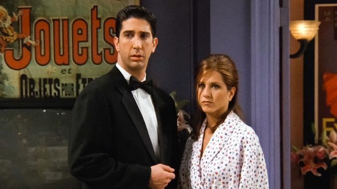 David Schwimmer a Jennifer Anistonová v seriálu Přátelé