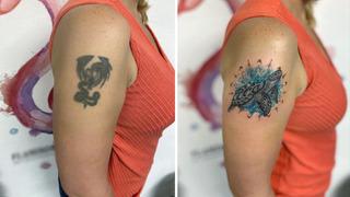 Tetování před a po