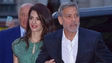 George Clooney se svou manželkou Amal Clooneyovou