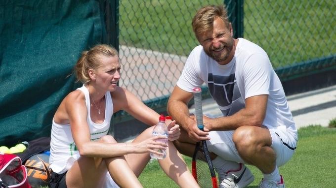 Petra Kvitová se svým trenérem a partnerem Jiřím Vaňkem