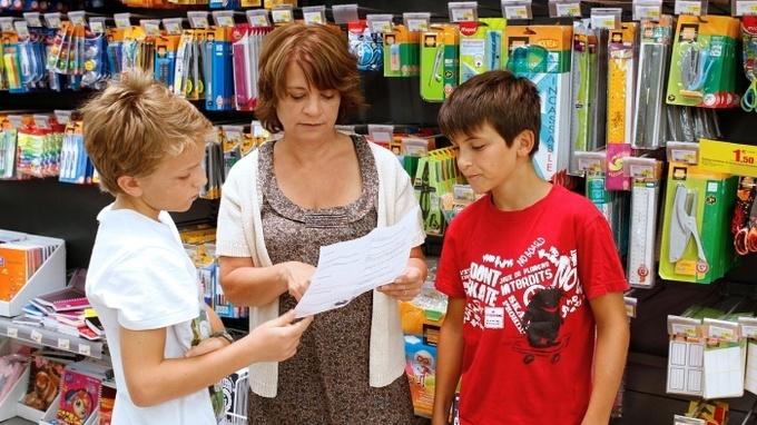 Nákup školních potřeb – Ilustrační snímek