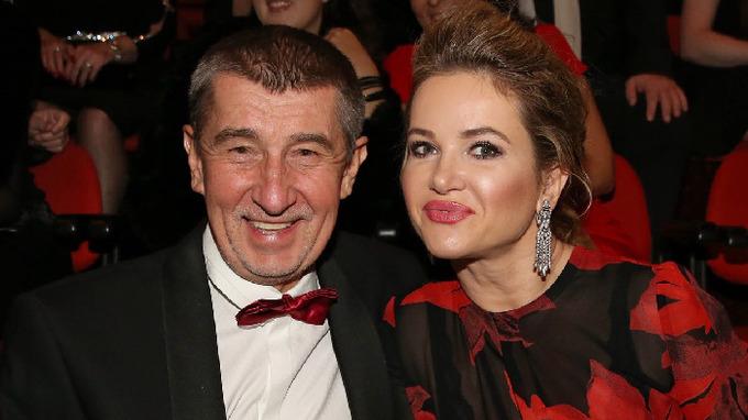 Andrej Babiš s manželkou Monikou