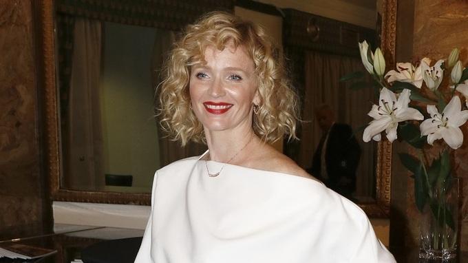 Aňa Geislerová na premiéře filmu Havel