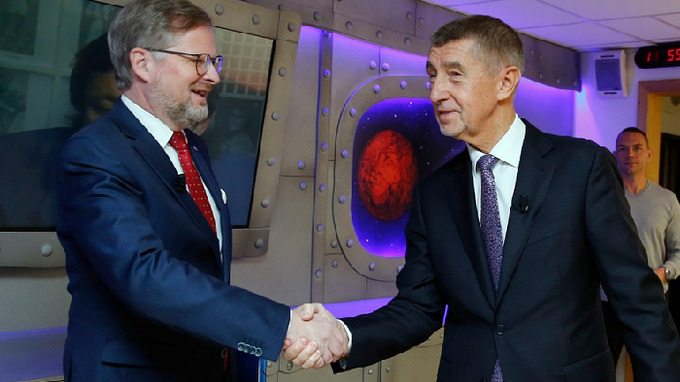Petr Fiala a Andrej Babiš