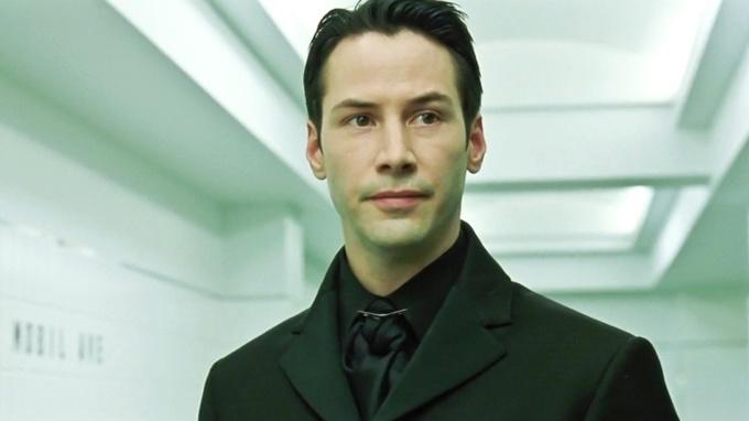 Herec Keanu Reeves v kultovním snímku Matrix