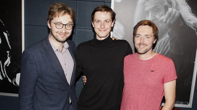 Karel Heřmánek (vlevo), Josef Heřmánek (uprostřed) a František Heřmánek