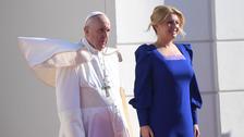 Papež František a slovenská prezidentka Zuzana Čaputová