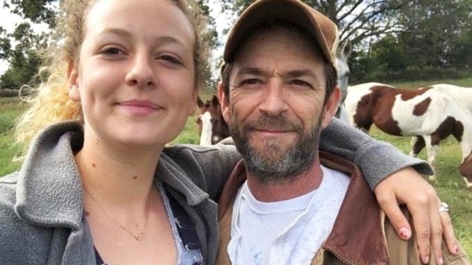 Zesnulý herec Luke Perry s dcerou Sophie