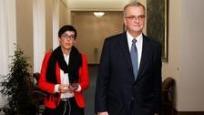 Předsedkyně strany Markéta Pekarová Adamová a nejvýraznější tvář TOP 09 Miroslav Kalousek