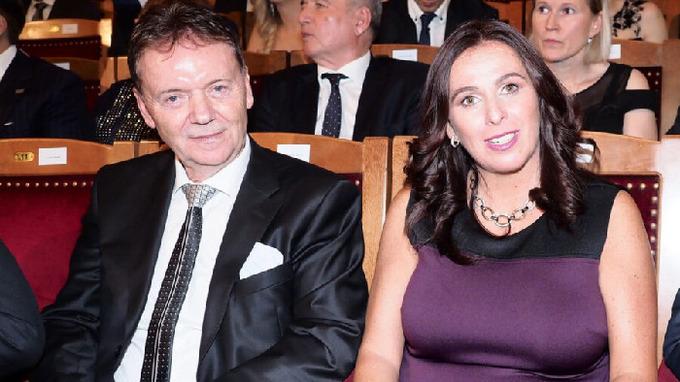 Dagmar Damková s manželem Romanem Berbrem.