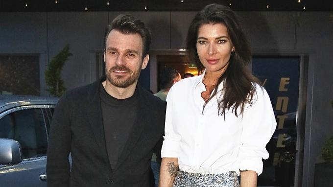 Leoš Mareš s manželkou Monikou