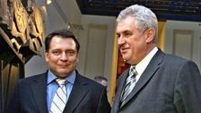 Jiří Paroubek s prezidentem Milošem Zemanem