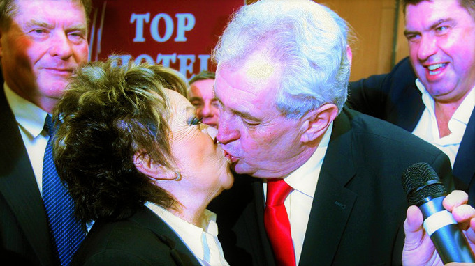 Jiřina Bohdalová a prezident Miloš Zeman